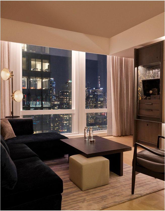 equinox hotel room