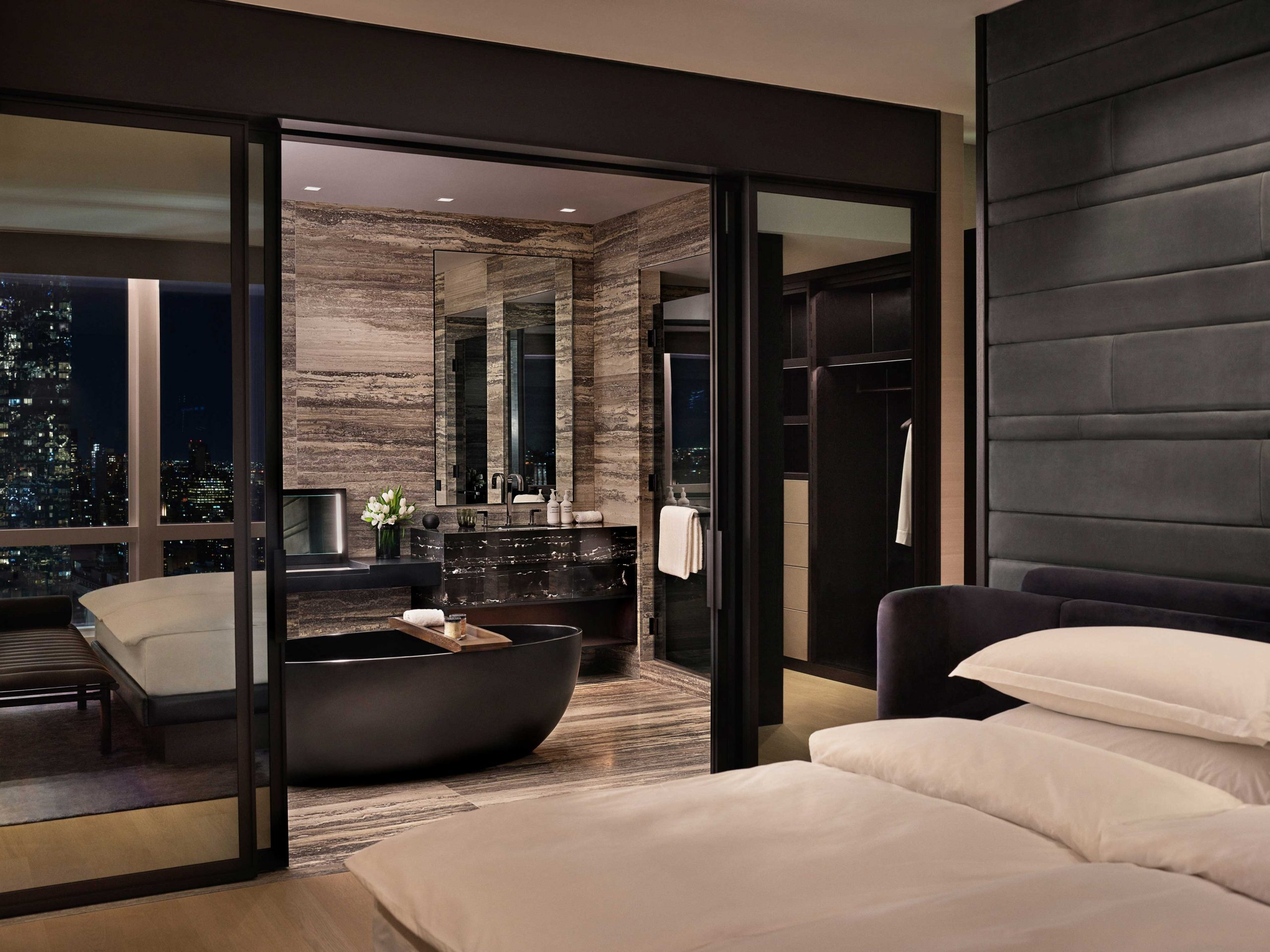 equinox suite bathroom bedroom