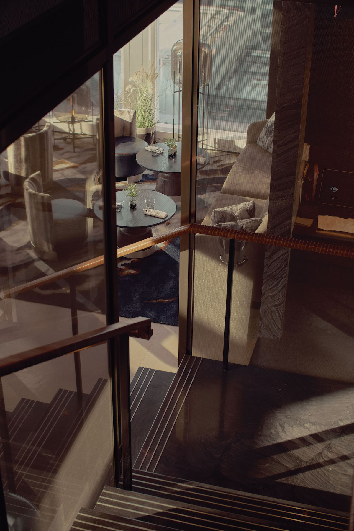 equinox hotel stairs