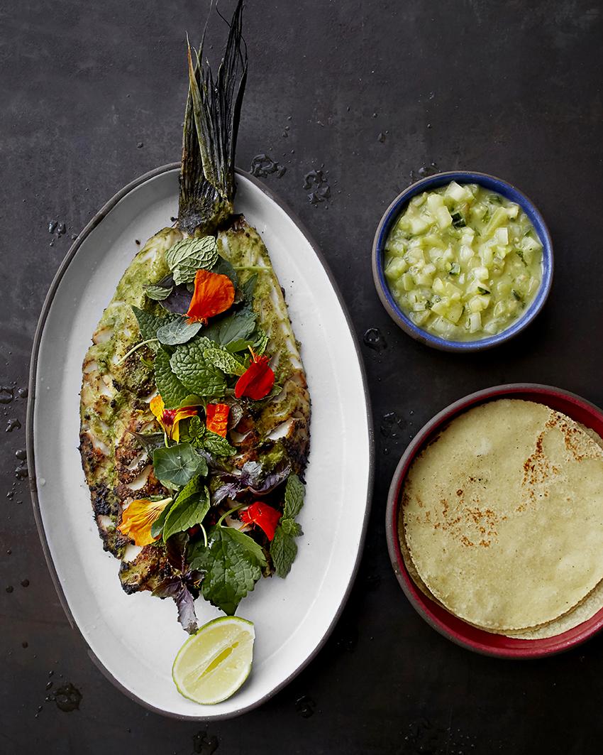 <fish dish