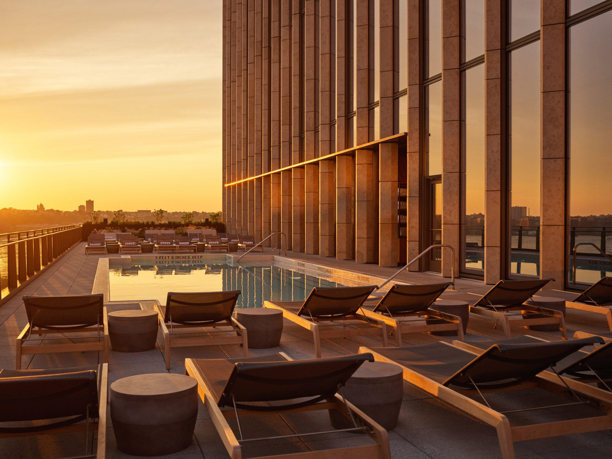 outdoor pool equinox hotel