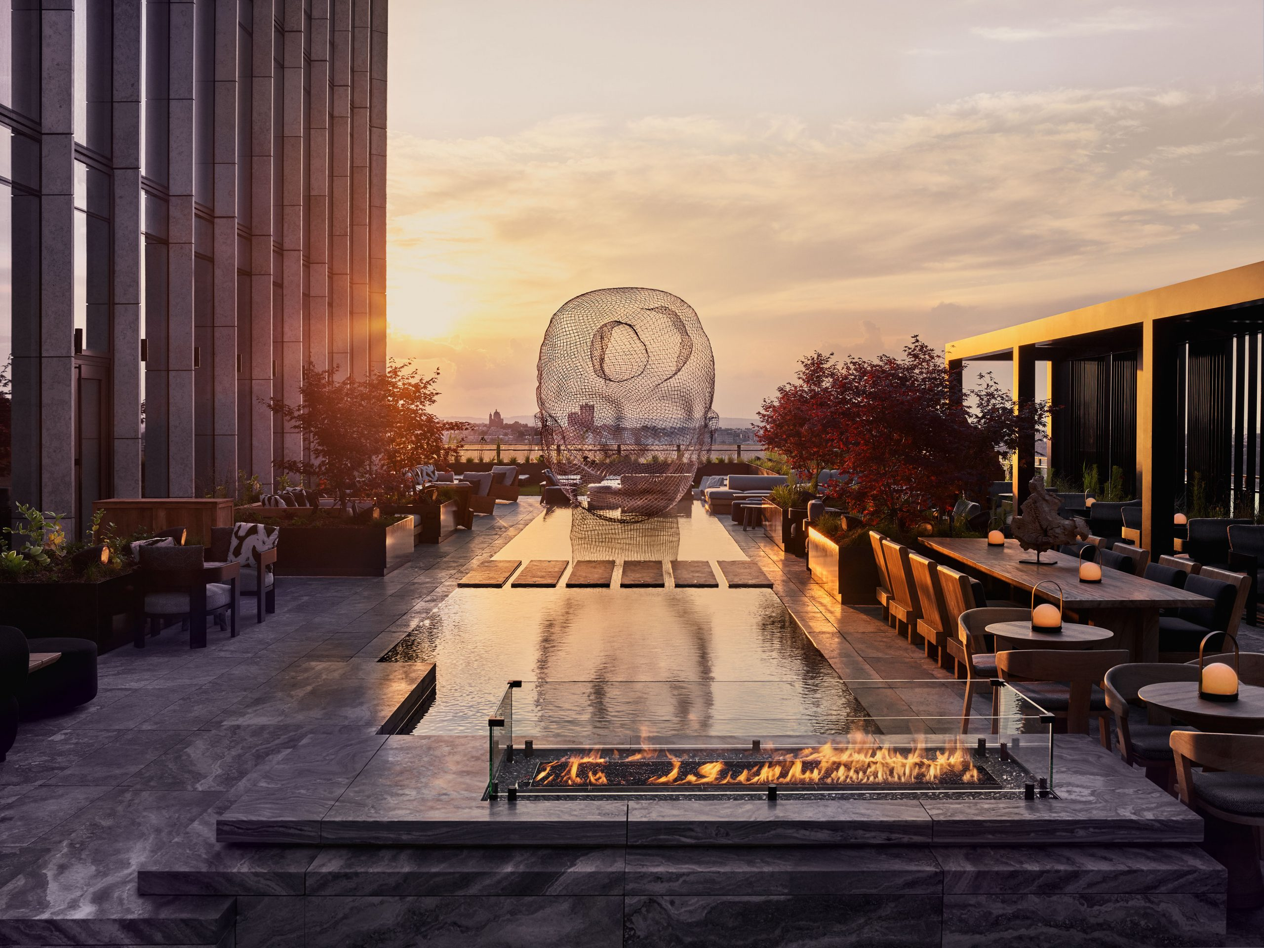 equinox outdoor rooftop terrace