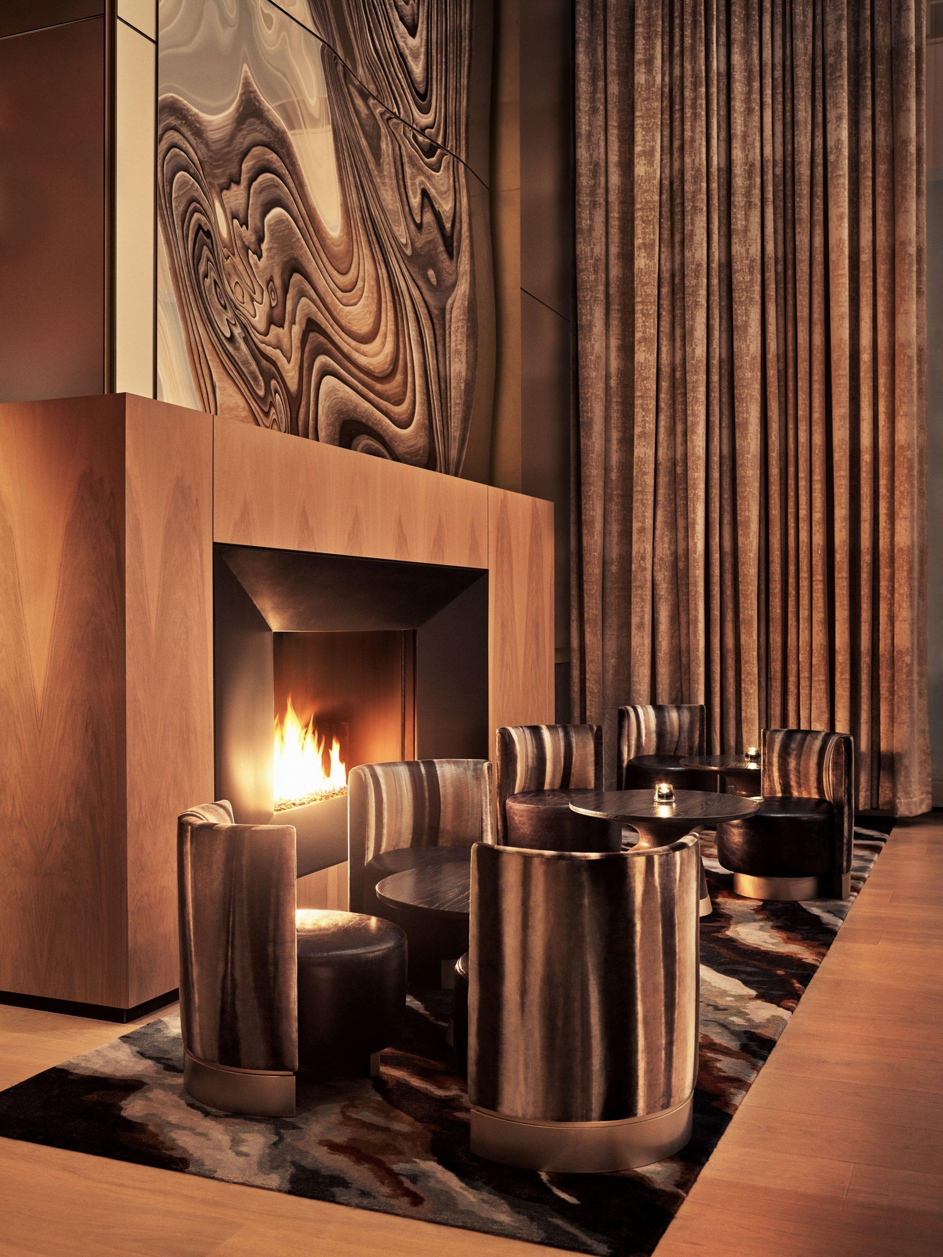 equinox lounge fireplace