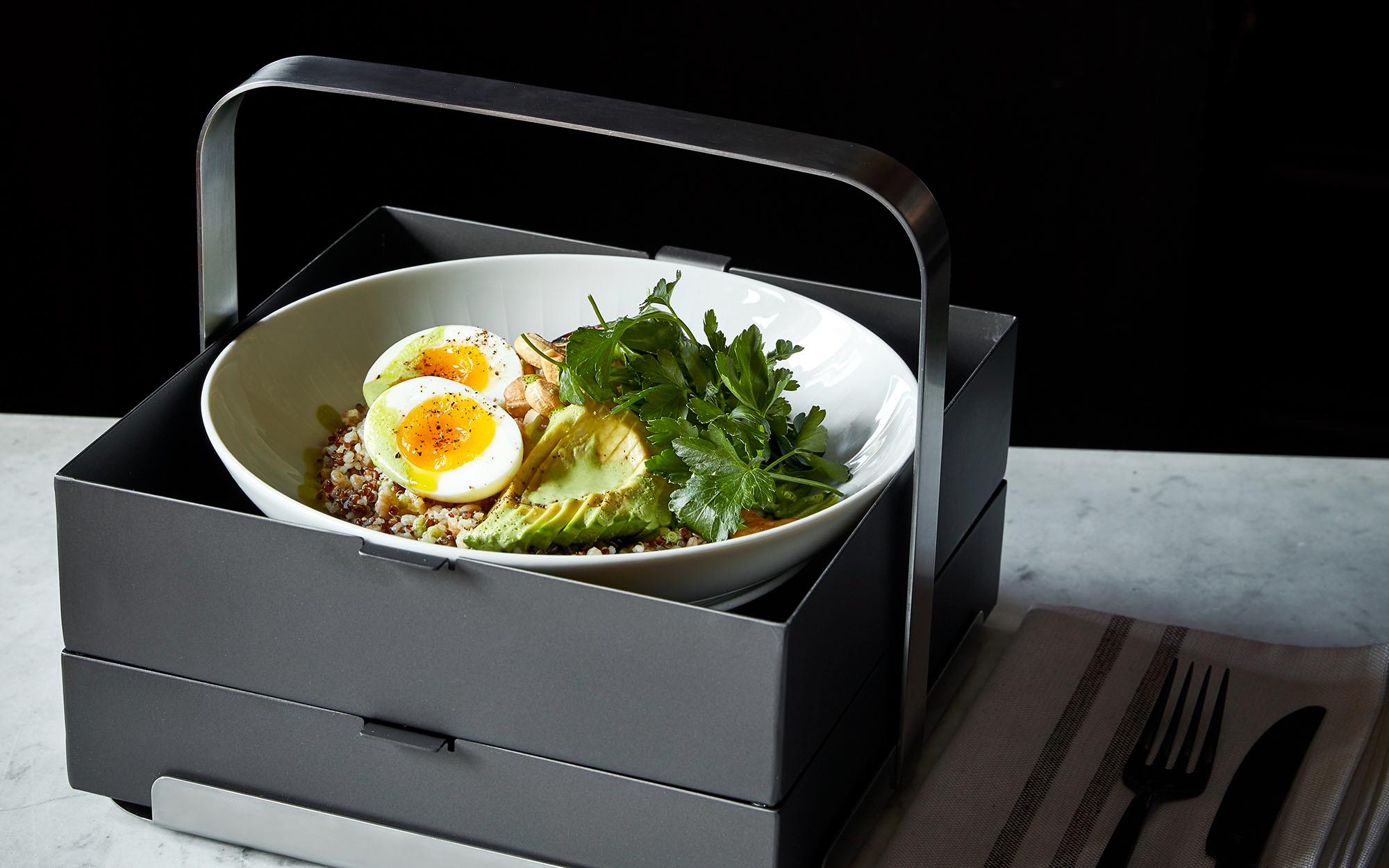 dish in box