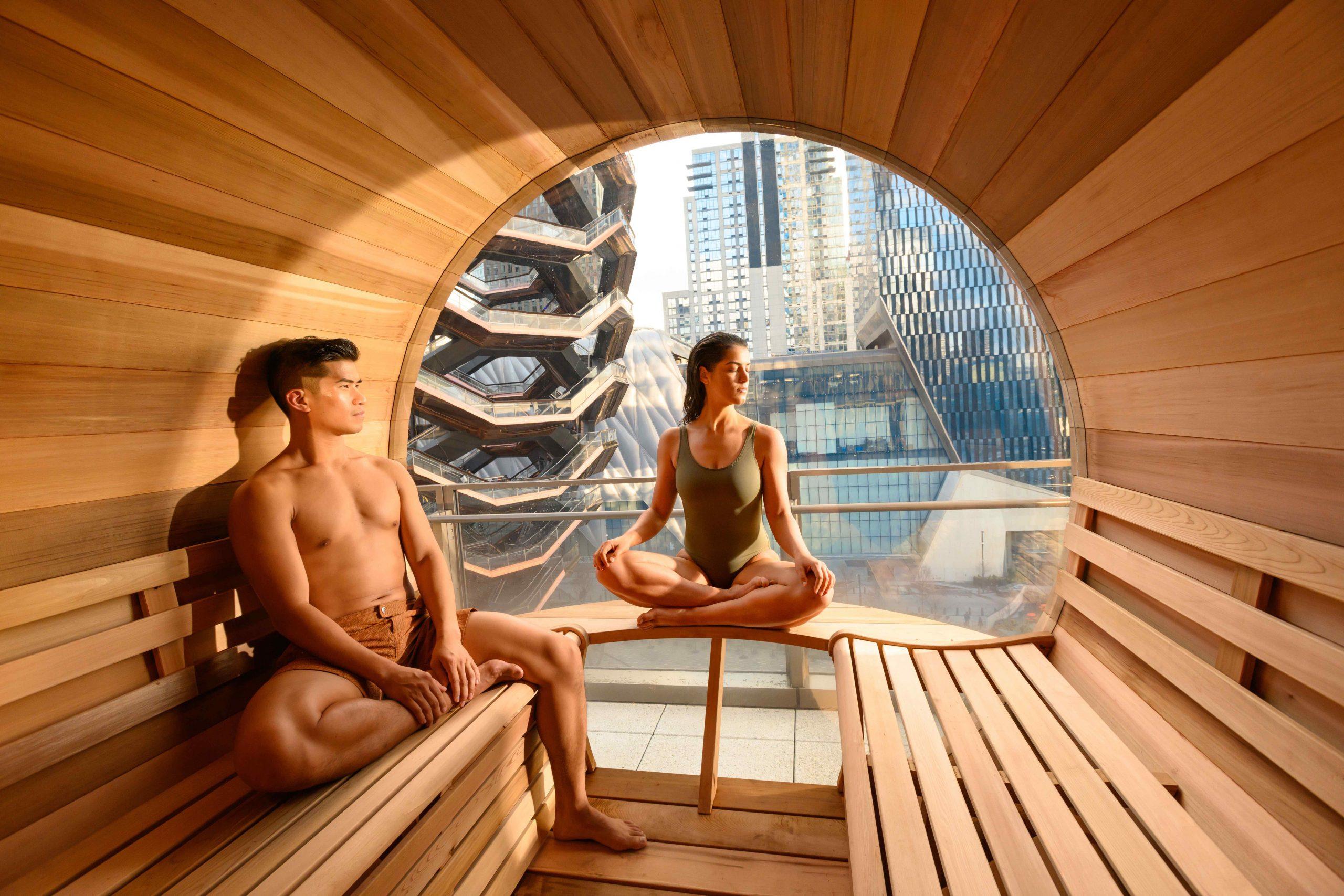 rooftop sauna room