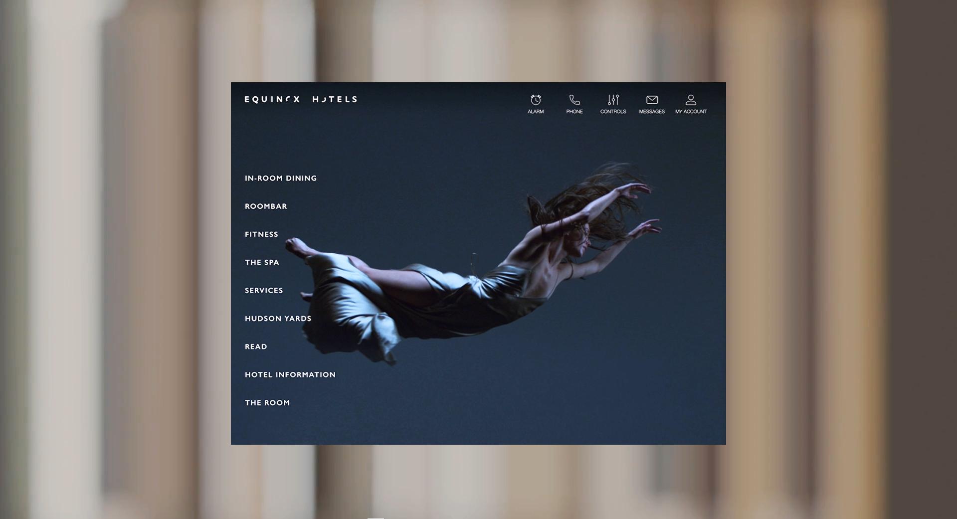 in room tablet menu interface