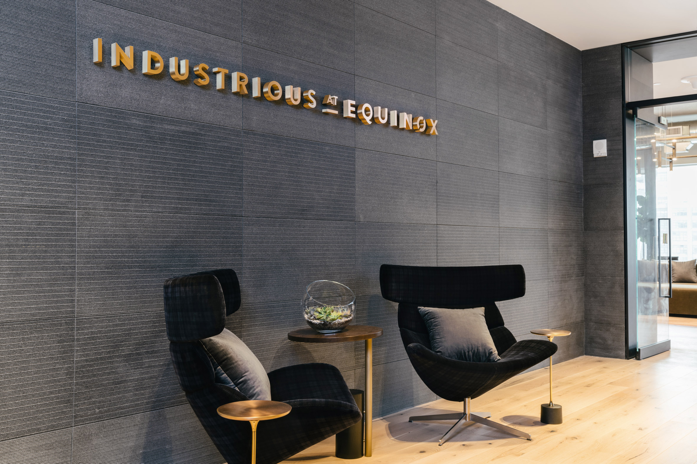 <industrious co working equinox hudson yards new york entrance