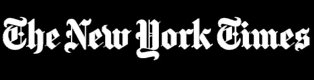 the new york times logo white
