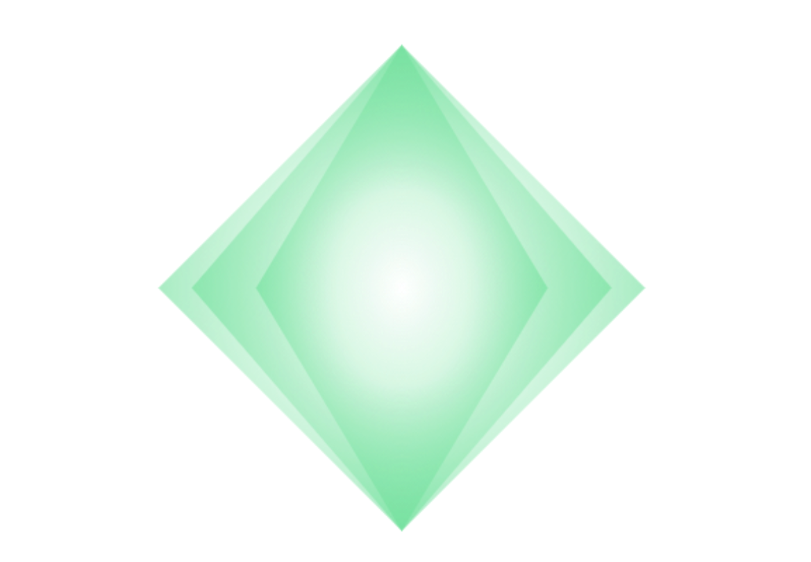 green diamond graphic