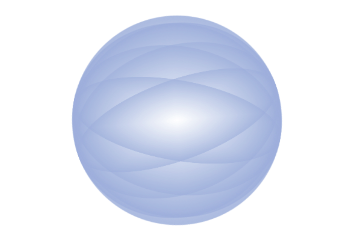 blue sphere graphic