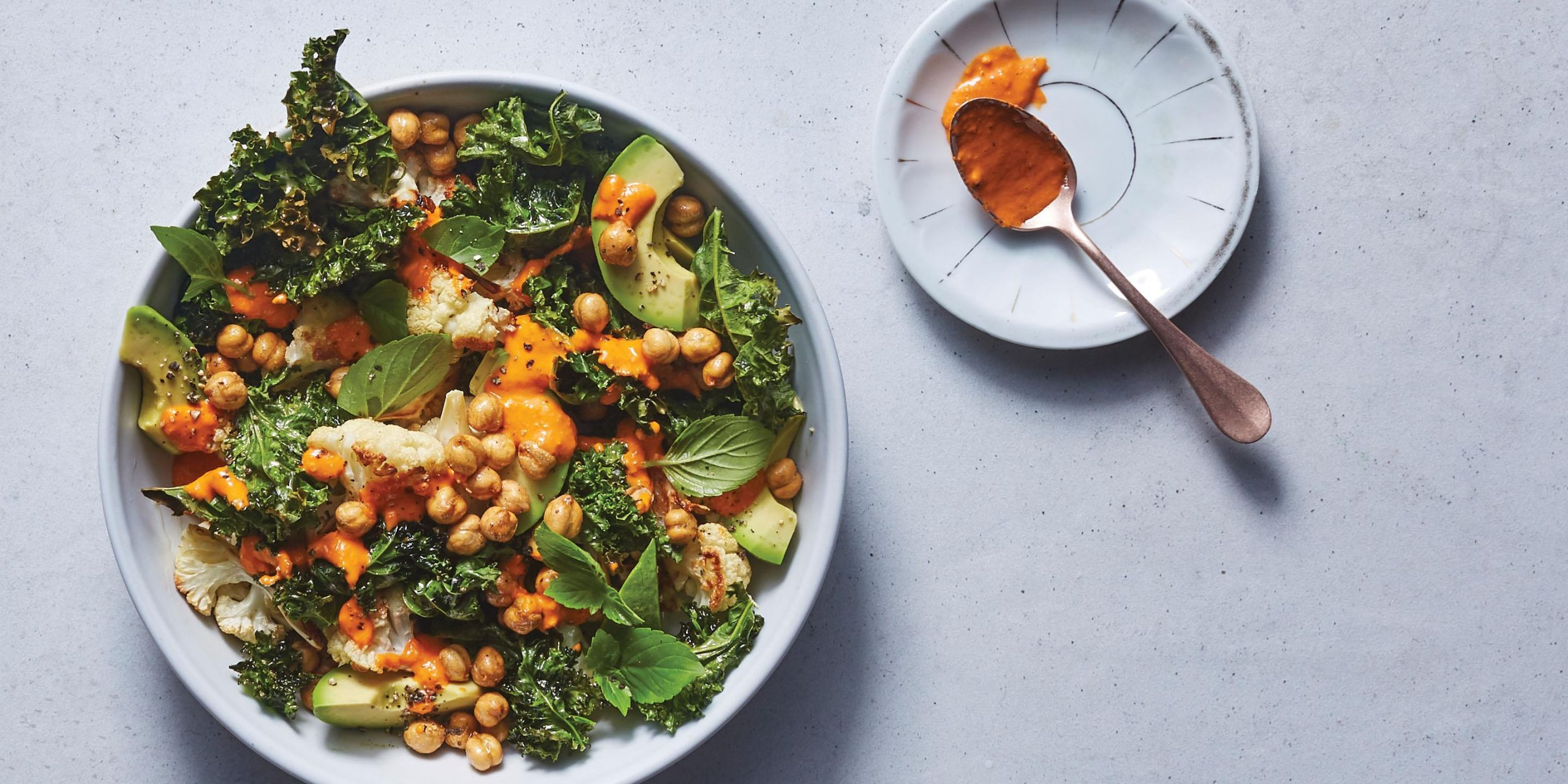 cauliflower chickpea and avocado salad