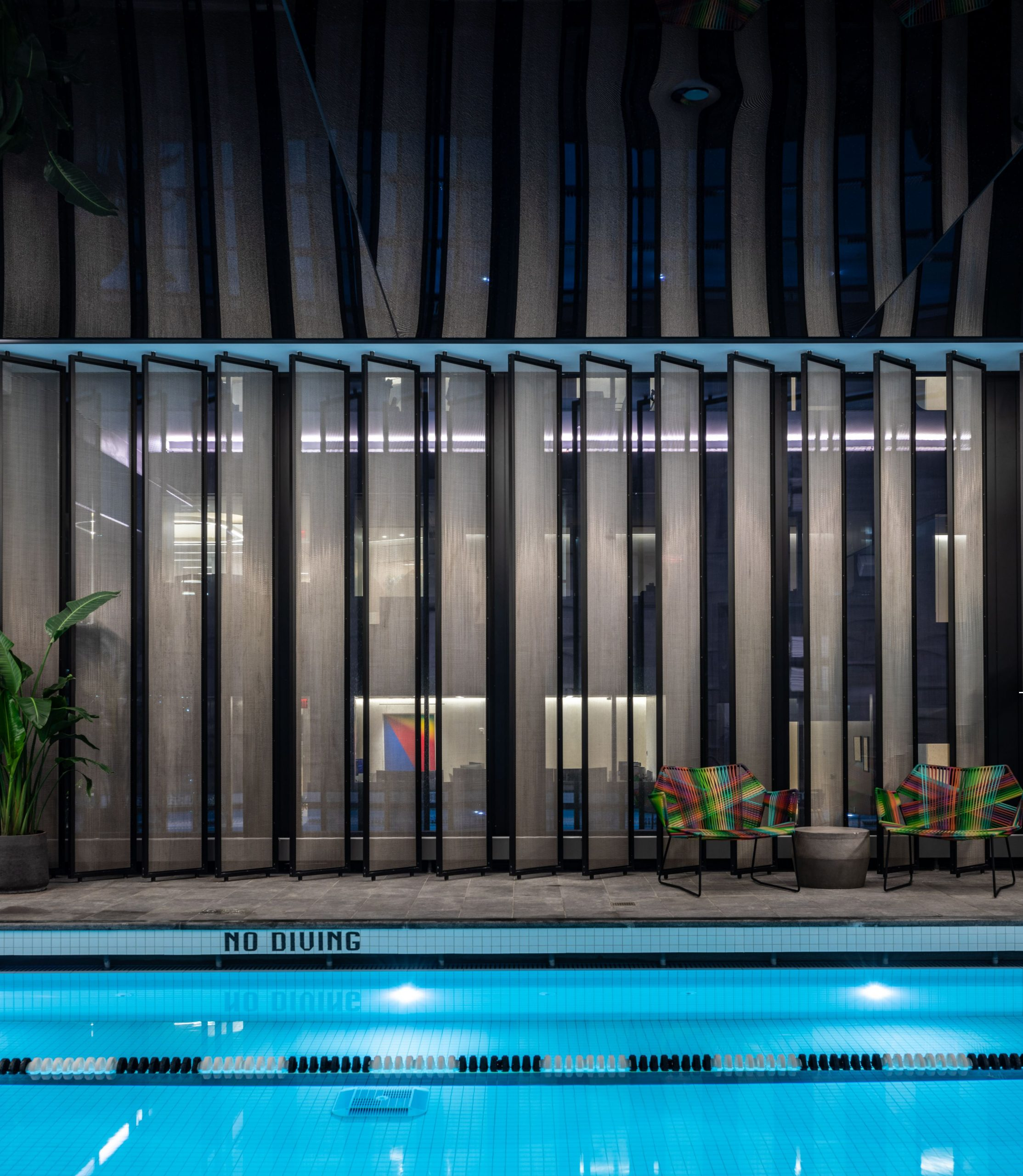 <equinox hudson yards fitness club indoor pool with lap lanes