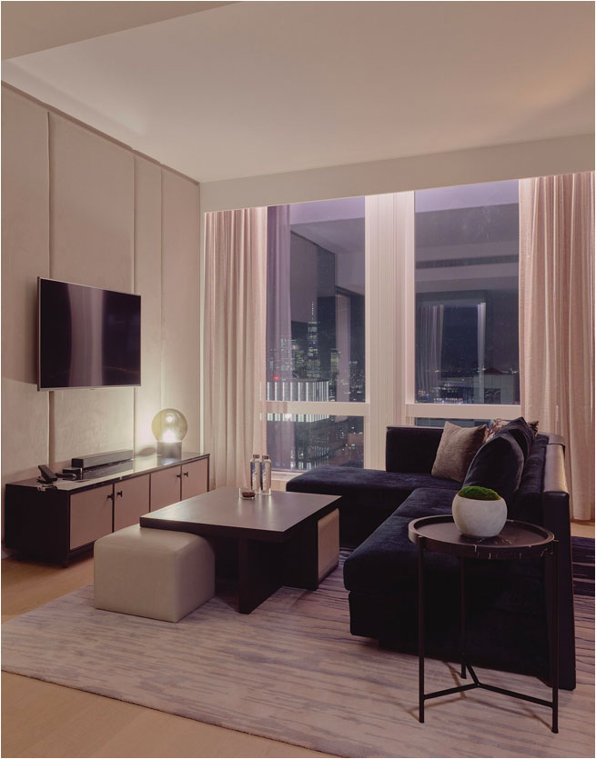 equinox hotel living room