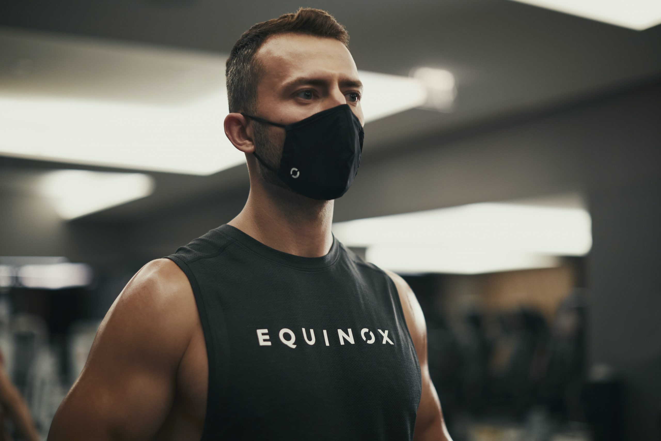 <equinox personal trainer in mask