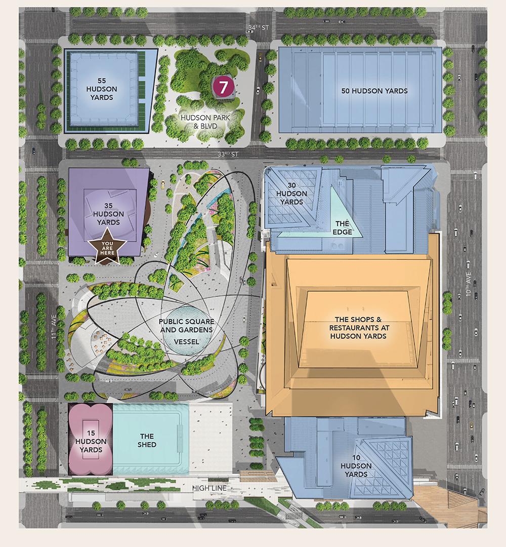 hudson yards map